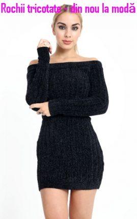 Rochii tricotate - din nou la modă
